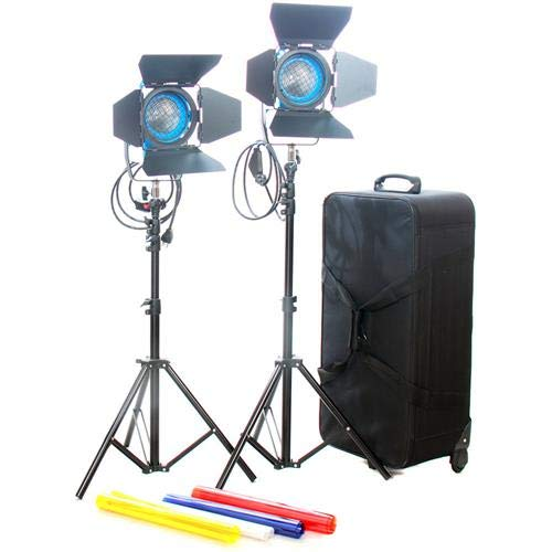 (Came-TV Fresnel Tungsten Video Spot Film Lights, 2X 650W)