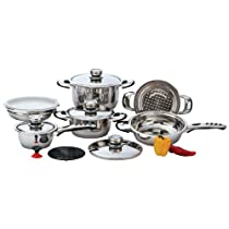 Exclusive Cookware Sets Incomparable Cookware 12Pc 9Ply Ss Cookware W/Trivet Standout