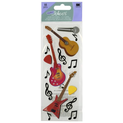 Jolee's Boutique Guitars and Music Notes Dimensional Stickers ()