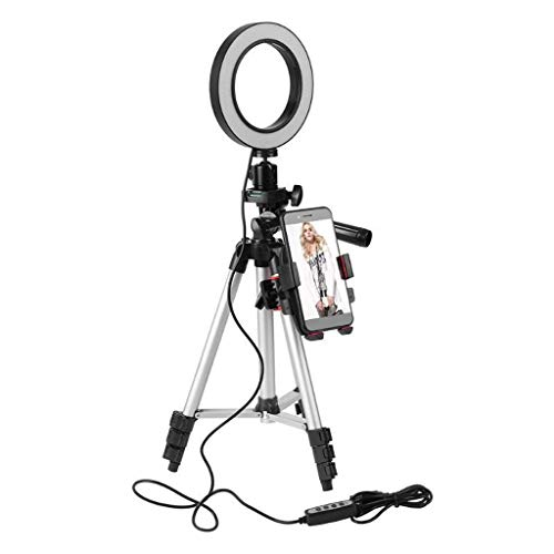 ( Orcbee  _5.7IN LED SMD Ring Light Kit with Stand Dimmable 5500K for Camera Makeup Phone)