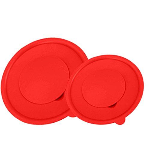 18 Cm Bowl (Vibola 1PCS Creative Home Egg Mixing Bowl Egg Cylinder Whisks Screen Cover Splash Guard Tool (C-18CM, Red))