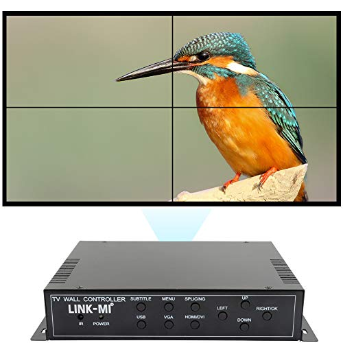 LINK-MI TV04M 2x2 Video Wall Controller USB+HDMI+DVI+VGA+AV TV HDMI with Fully-Digital Processing Channel Inside 180 Degree Rotate