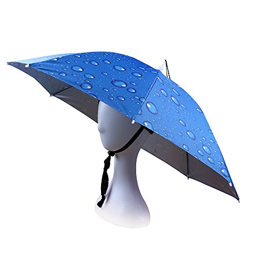 JANGANNSA Fishing Umbrella Hat Folding Sun Rain Cap Adjustable Outdoor Headwear