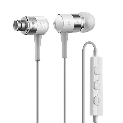 Edifier i285 / H285i headphones headset for iPhone - 3.5mm Hi-fi Earphone IEM In Ear Monitor with Mic and Volume Controls (White)