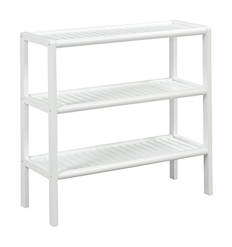 Abingdon New Ridge Home Goods Shelf Console, White