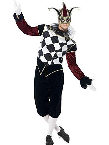 Smiffys Gothic Venetian Harlequin Costume