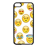 Ipod Touch 6th Generation Case,Smiley Face Emoji Pattern Custom Slim Hard Phone Case for Ipod Touch 6th Generation