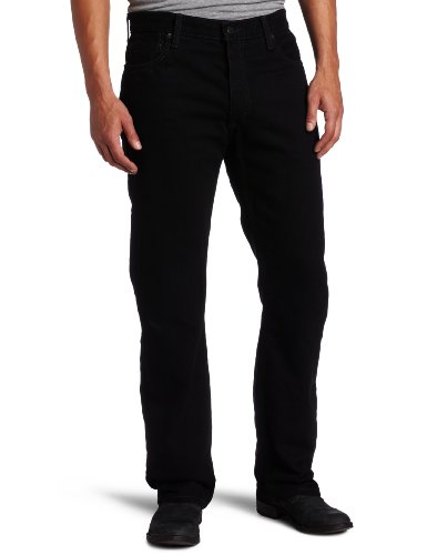 Mens Basic Jean (Levi's Men's 505 Regular Fit Jean, Black, 36x32)