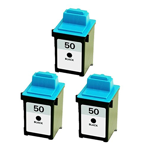 Inkjet 17g0050 Black - COMPATIBLE Lexmark 50 Ink Cartridge (Lexmark 17G0050). High Resolution Black Inkjet Cartridge.-3PK