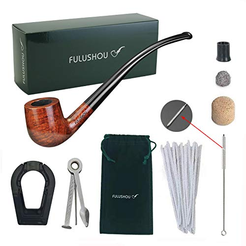 - FULUSHOU Mediterranean Briar Wood Tobacco Pipe, Reading Pipe