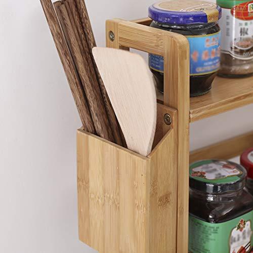 Kitchen Storage Shelf Racks Storage Basket Shelf Baskets Bamboo Household Spice Rack Kitchen Multifunction Tool Holder Multiple Choices ZHAOYONGLI (Size : 521860cm) by ZHAOYONGLI-shounajia (Image #4)