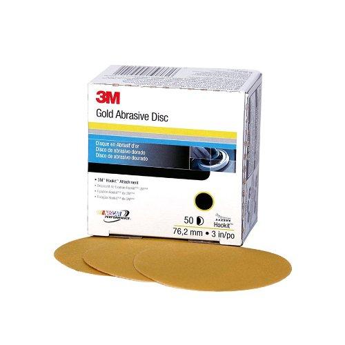 3M 00919 Hookit Gold 3'' P120C Grit Disc (Pack of 4)