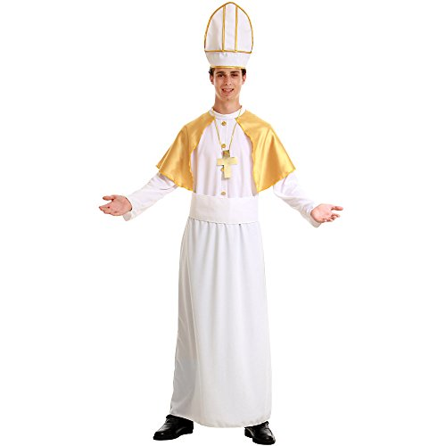 Pious Pope Men's Halloween Costume Catholic Cardinal Bishop Pontiff Clergy -