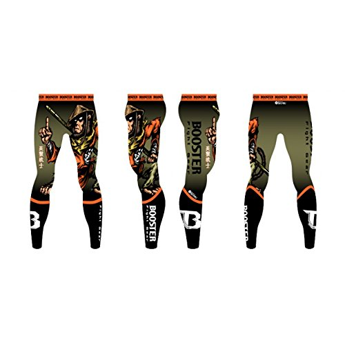 Booster Freefight   MMA Hose schwarz-grau-grün Spats War Monkey