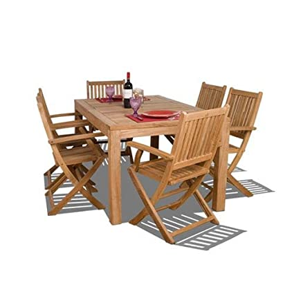 Delicieux International Home Miami Amazonia Teak 7 Piece Budapest Dining Set