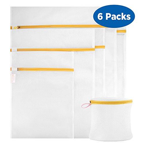 Ecooe Wäschenetz 6 Stück Wäschesack Premium Qualität Wäschetasche Wäschebeutel für Waschmaschine Orange