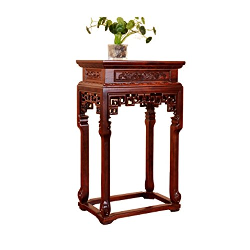 - Solid Wood Elm Wood Ming and Qing Dynasties Classical Antique Flower Shelf A Few A Few Sofa A Few Tables A Few Telephone Several Tea Table Side Table Chestnut Red 48 Wide 32 High 80