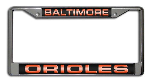 MLB Baltimore Orioles Laser Chrome License Plate Frame