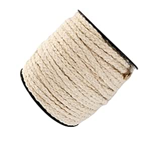 MagiDeal 4 Mm Crafting Cord On Roll Cotton Cord Yarn Cord For Crafting - Raw White, 30 Meters