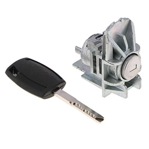 Flameer Car (Front Left Driver Side) Door Lock Cylinder & Key for Ford Focus 06 07 08 09 10