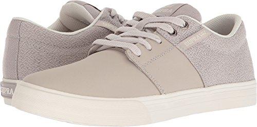 Bone Smooth Footwear - Supra Mens Stacks II Vulc, Silver Cloud-Bone, 10 D(M) US