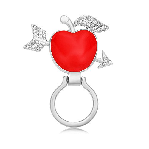 PANGRUI Delicate Red Apple With Arrow Magnet Brooch Magnetic Eyeglass Holder