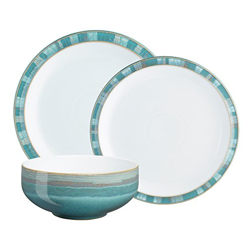 Denby (AZC-12PC) Azure Coast 12-Piece Dinnerware Set