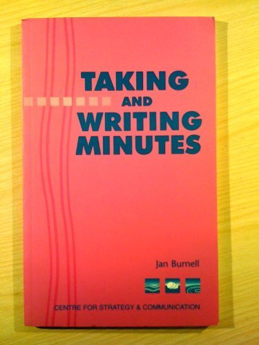 Download Taking and Writing Minutes ebook