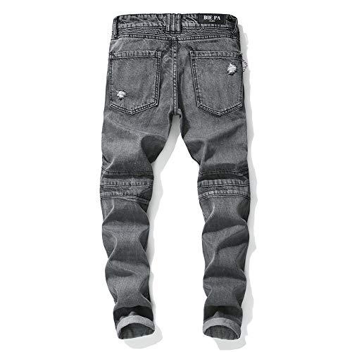 Piedi Vestibilità Pantaloni Stagioni Jeans Sfsf Uomo Quattro Giuntura Slim Rivetti Jeans Selvaggio Della Lavato Strappati Da Uomini 33 Consumati Metà Vita x0w0FIpYq