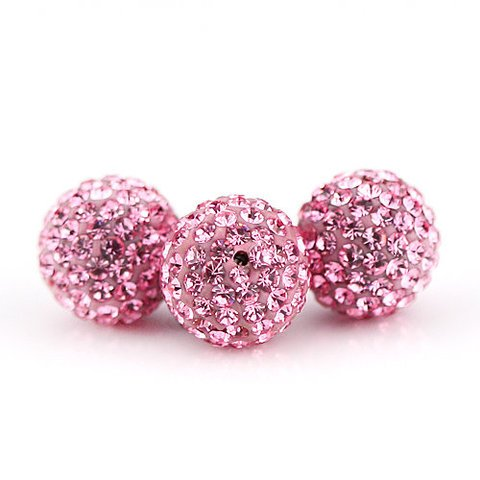 10 PSC 12mm Light Rose Swarovski Crystal Loose Spacer Bead Pave Disco Ball Swarovski Crystal Disco Ball Bead