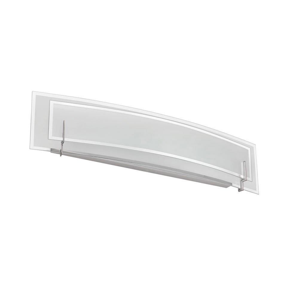浴室洗面化粧台3ライト電球器具とサテンクローム仕上げガラス素材30
