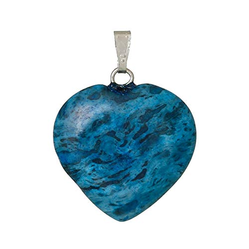 (Created Heart Blue Charm Pendants 28mm(1 1/8