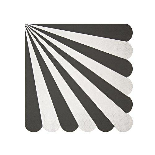 Black Stripe White Plate (Meri Meri Toot Sweet Black Stripe Large Napkin)