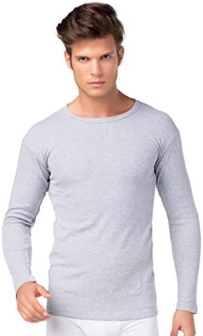 stylenmore Thermoonderhemd voor heren lange mouwen skibinnenfleece katoen