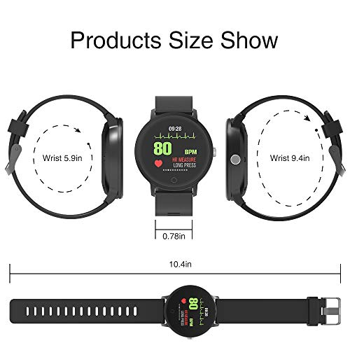 BingoFit Epic Fitness Tracker Smart Watch, Activity Tracker with Heart Rate Monitor, Waterproof Pedometer Watch with Sleep Monitor, Step Counter for Men Women