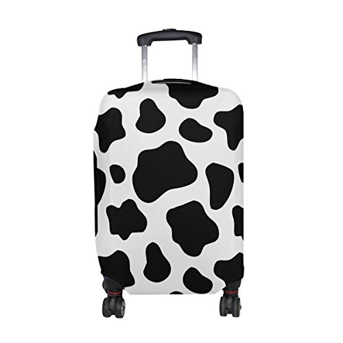 Cooper girl Cow Print Travel Luggage Cover Suitcase Protector Fits 31-32 Inch (Cow Print Luggage)