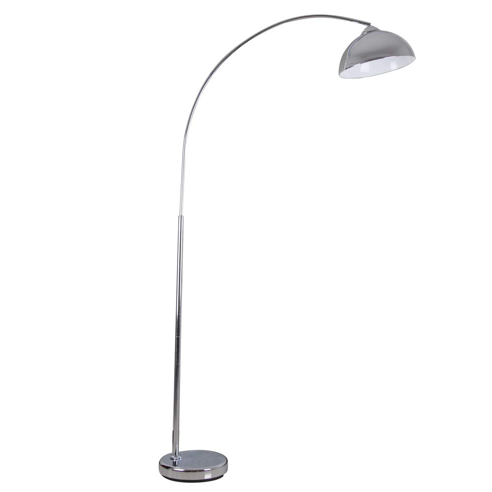 "Catalina Lighting 21413-000 Modern Over The Sofa Curved Arc Floor Lamp, 74.2"", Chrome Discontinued"