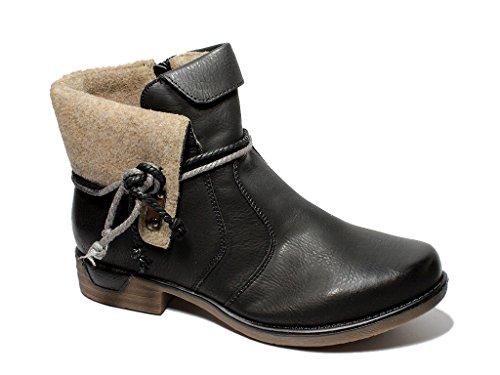 Damen Winterstiefel Stiefeletten Boots gefüttert komfort Freizeit Damenschuhe 36-41 Schwarz