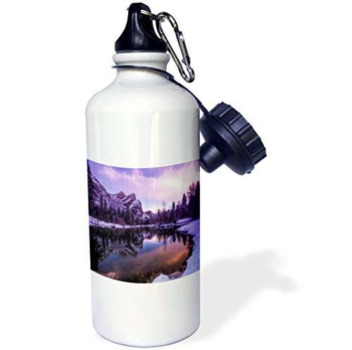 3dRose Danita Delimont - Lakes - The Three Brothers above the Merced River, Yosemite NP, California - 21 oz Sports Water Bottle (wb_278654_1) by 3dRose