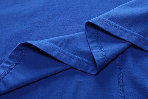 Avacoo Senza Maniche Royal Vestito Blu Donna RFRnUpq