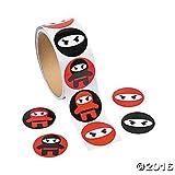 kids stickers ninja - 200 NINJA Warrior Stickers (2 rolls of 100) PARTY Favors CLASSROOM Teacher Motivational Rewards MARTIAL ARTS