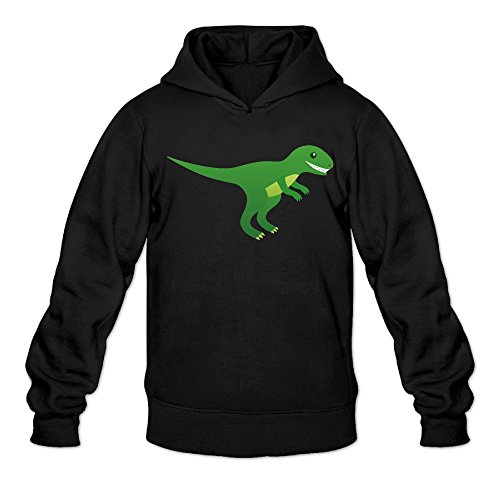 DVPHQ Men's High-quality Cartoon Dinosaur Sweater Size S Black