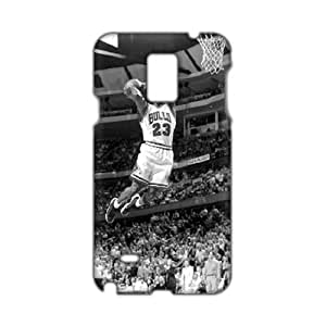 Angl 3D Case Cover Bulls 23 Michael Jordan Phone Samsung Galxy S4 I9500/I9502