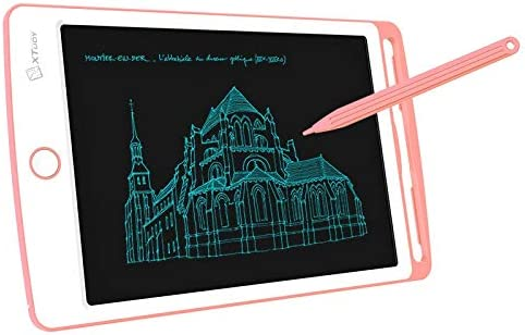 Color : Pink Consumer Electronics WP9308 8.5 inch LCD Writing Tablet High Brightness Handwriting Drawing Sketching Graffiti Scribble Doodle Board for Home Office Writing Drawing Pink