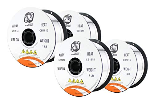 ER4043- MIG Aluminum Welding Wire - 1 Lb x 0.035