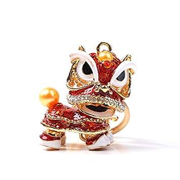 Chino Viento Creativo pequeño Colgante, muñeca león Baile ...