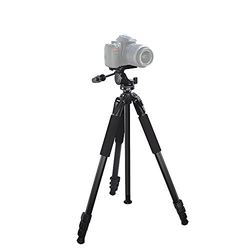 Resillient 80'' Heavy Duty tripod for : Canon PowerShot ELPH 180 CameraTripod - 360 Degree Pan, Tilt + Quick Release, Vertical Leg Adjustments, (2) Bubble Level Indicators + Durable Carry Case by iSnapPhoto