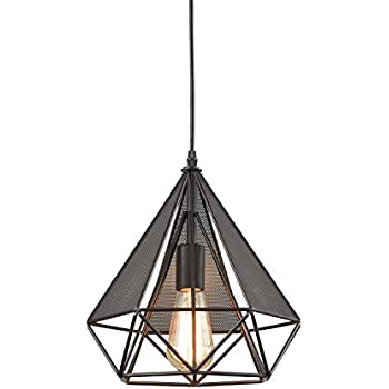Yobo lighting vintage oil rubbed bronze polygon wire pendant light yobo lighting polygon loft art deco vintage wire pendant kitchen chandeliers oil rubbed bronze aloadofball Image collections