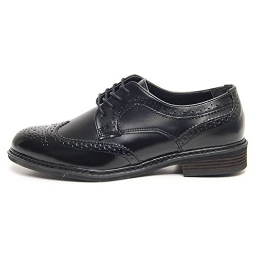 Epicstep Mens Classic Dress Formale Business Casual Pelle Wingtip Lace Up Scarpe Mocassini Oxfords Nero Lace-up