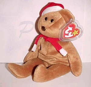 Amazon.com  1997 Ty Christmas Teddy Bear Beanie Baby (babie)  Toys ... cd221bebc63
